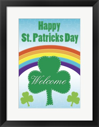Framed Happy St. Patricks Day Print