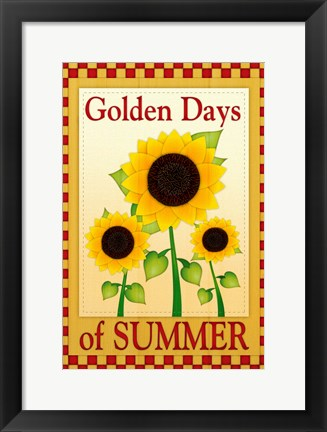 Framed Golden Days of Summer Print