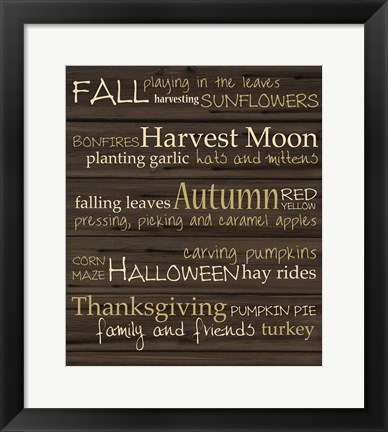 Framed Autumn Harvest Print