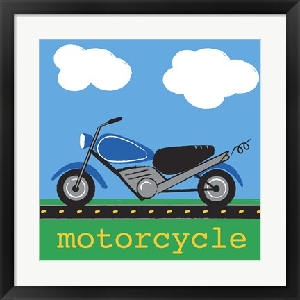 Framed Motorcycle Print