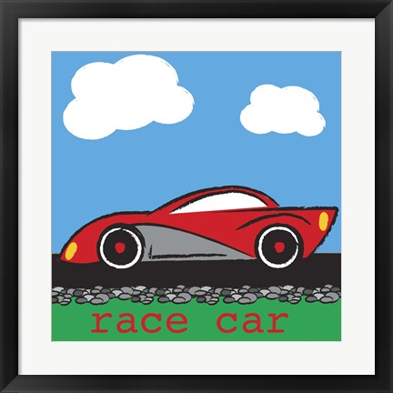 Framed Race Car Print