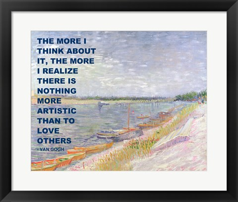 Framed Love Others -Van Gogh Quote Print