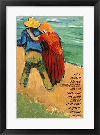 Framed Love -Van Gogh Quote Print