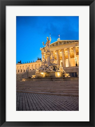 Framed Parliament Building at Twilight Print