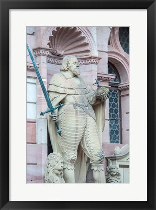Framed Sculpture of Frederick IV, Heidelberg Castle Print