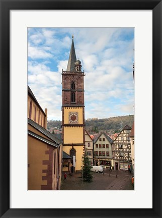 Framed Gothic Church Tower Print
