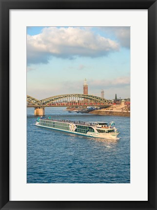 Framed Scylla Tours Riverboat on The Rhine River Print