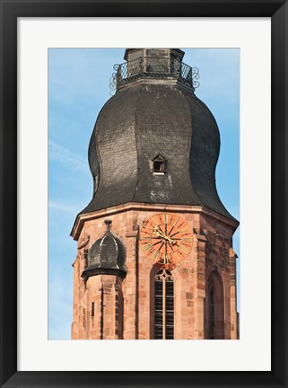 Framed Church of the Holy Ghost, Old Town Heidelberg Print