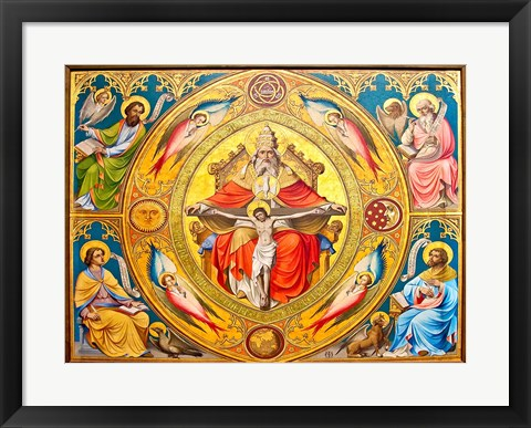 Framed Altar Painting, Cologne, Germany Print