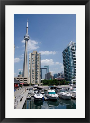 Framed Marina Skyline View Print