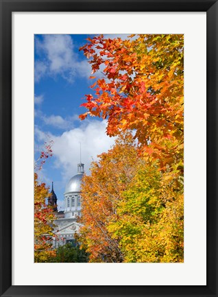 Framed Silver Dome of Bonsecours Market Print
