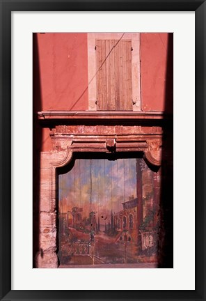 Framed Roussillon Door, Luberon Print