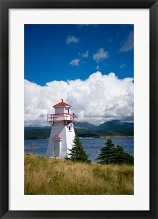 Framed Woody Point Lighthouse Print