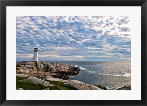 Framed Lighthouse in Peggys Cove, Nova Scotia Print