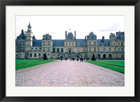 Framed Fontainebleau Palace, France Print