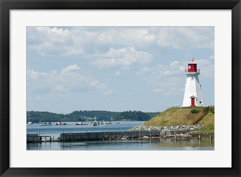 Framed Mulholland Lighthouse, New Brunswick Print