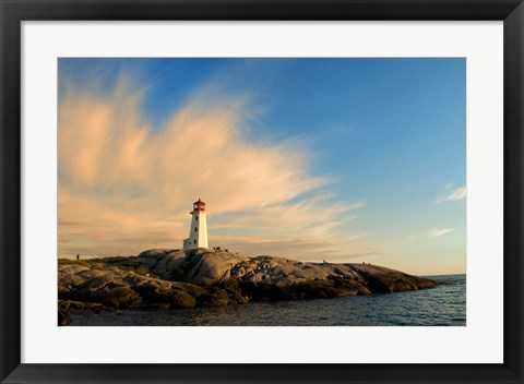 Framed Peggy's Point Lighthouse at Sunset Print