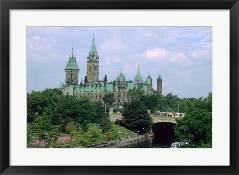 Framed Parliament Building in Ottawa Print