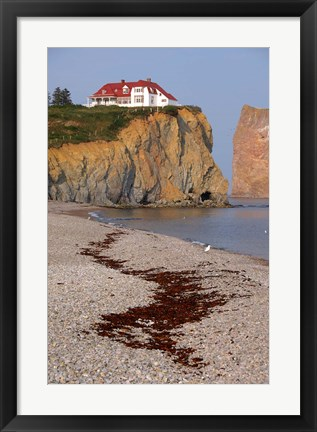 Framed Quebec Beach Cliffs Print