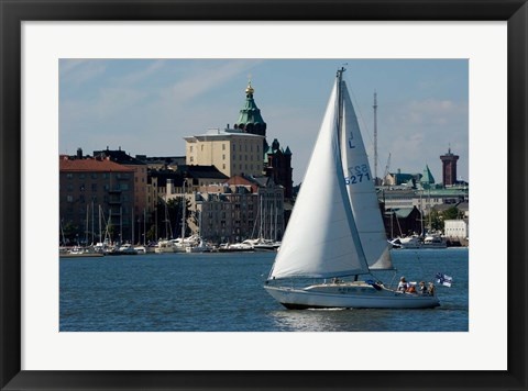 Framed Island in Helsinki Harbor Print
