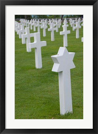 Framed France, Normandy, WWII cemetery Print