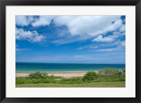 Framed Omaha Beach in Normandy Print
