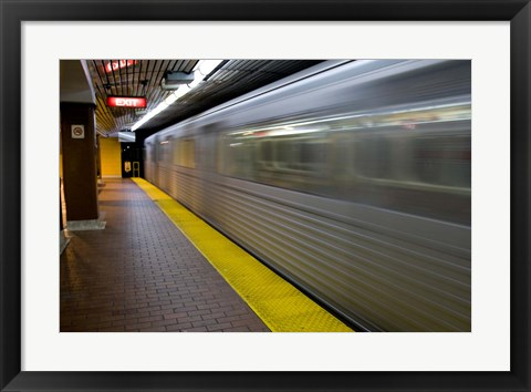 Framed Toronto Subway Train Print