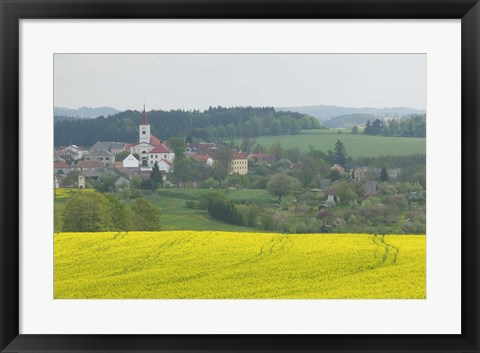 Framed Village of Znojmo, Czech Republic Print