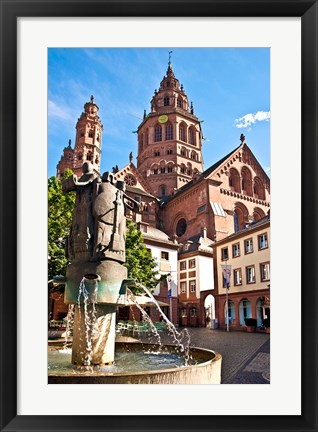 Framed Saint Martin's Cathedral, Mainz, Germany Print