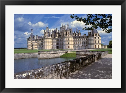 Framed France, Chateau Chambord, Loire Valley Print