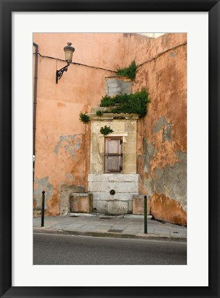 Framed Port and Commercial Town of Corsica, France Print