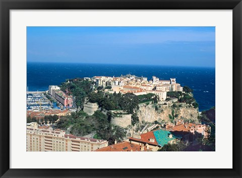Framed Principality of Monaco at Monte Carlo, France Print