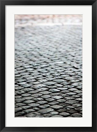 Framed Old City Cobblestones, Bescancon Print