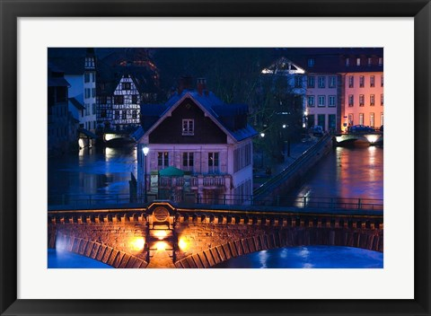 Framed Ponts Couverts, Strasbourg, France Print