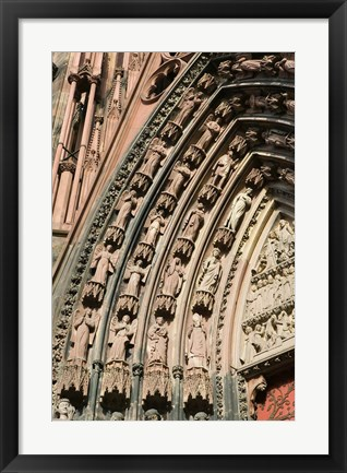 Framed Details of the East Facade, Cathedrale Notre Dame Print
