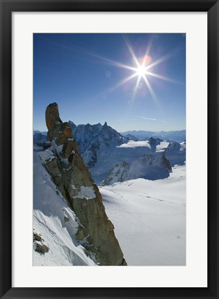 Framed Winter View of The French Alps Print
