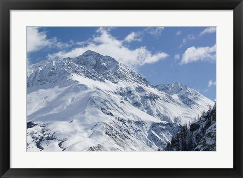 Framed French Alps in Winter Print