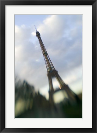 Framed Winter View of the Eiffel Tower Print