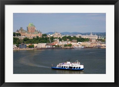 Framed Ferry Boat, St Lawrence River Print