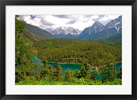 Framed Alpine Lake in the Austrian Alps Print