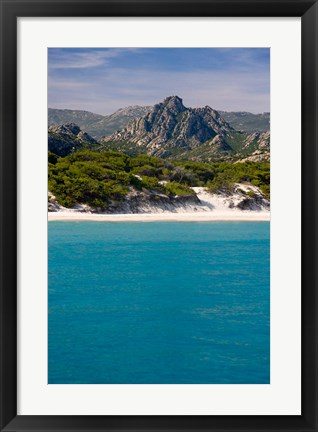 Framed France Corsica Saleccio Beach Print