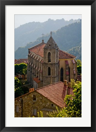 Framed Village of Zicavo, Corsica, France Print