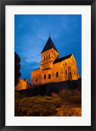 Framed Town Church in Mame, France Print
