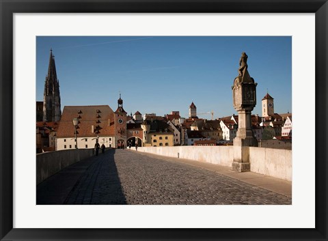 Framed Historic Stone Bridge, Germany Print