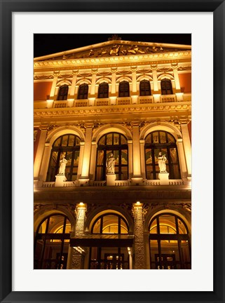 Framed Vienna Music Hall, Philharmonic Orchestra Print