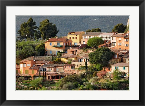 Framed View of Roussillon, France Print