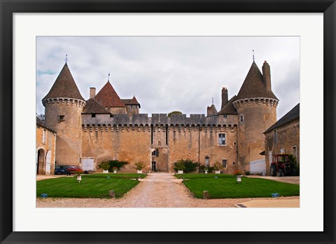 Framed Medieval Chateau de Rully Print