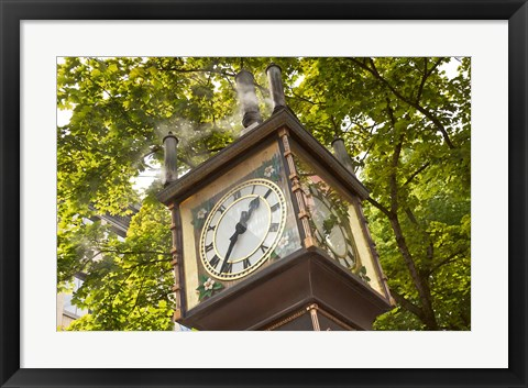 Framed Steam Powered Clock Print