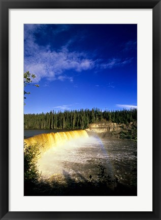 Framed Lady Evelyn Falls Territorial Park Print