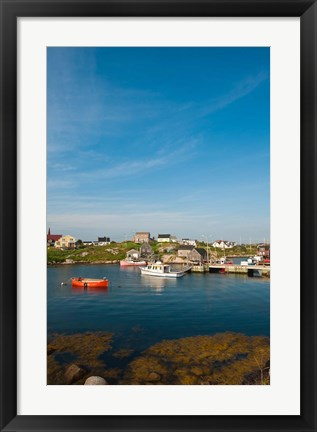 Framed Peggy's Cove Fishing Village Print